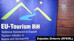 """Logo projekta """"Tehnička pomoć za podršku industriji turizma u Bosni i Hercegovini"""""""
