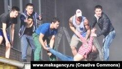 Пожар на складе на Алтуфьевском шоссе