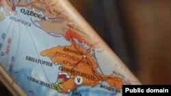 """Hartë që e tregon Krimenë si """"pjesë të Rusisë""""."""