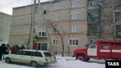 A residential building where nine people, including seven children, died in a fire in the central city of Perm early on March 9.