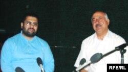 """İlqar İbrahimoğlu və Yevda Abramov """"Azadlıq"""" radiosunun Bakı Bürosunda, 29 iyul 2006"""