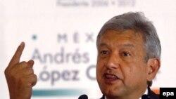 Левый кандидат в президенты Андрес Лопес Обрадор