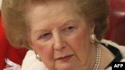 Бывший премьер-министр Великобритании Маргарет Тэтчер. 3 декабря 2008 года.