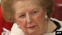 Ұлыбританияның бұрынғы премьер-министрі Маргарет Тэтчер. Ұлыбритания парламенті, 3 желтоқсан 2008 жыл.