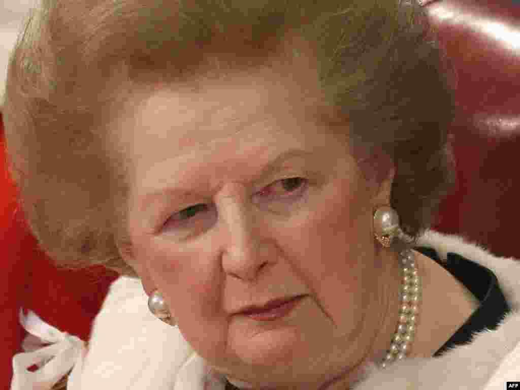 Margaret Thatcher in December 2008