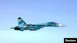 A U.S. Navy reconnaissance aircraft was intercepted by a Russian SU-27 plane on November 5. (file photo)