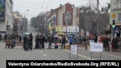 Протестувальники перекрили вулицю у центрі Рівного