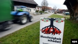Poziv na glasanja na švicarskom referendumu.