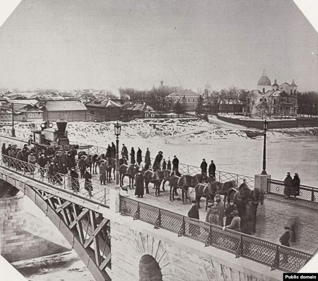 Сігізмунд Юркоўскі. Віцебск, Дзьвінскі мост (1866-67гг)