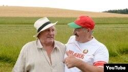 Жэрар Дэпардзьё і Аляксандар Лукашэнка