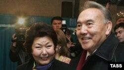 Сара Назарбаева мен оның күйеуі, Қазақстан президенті Нұрсұлтан Назарбаев.