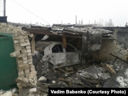 Зруйнований гараж у будинку Вадима Бабенка