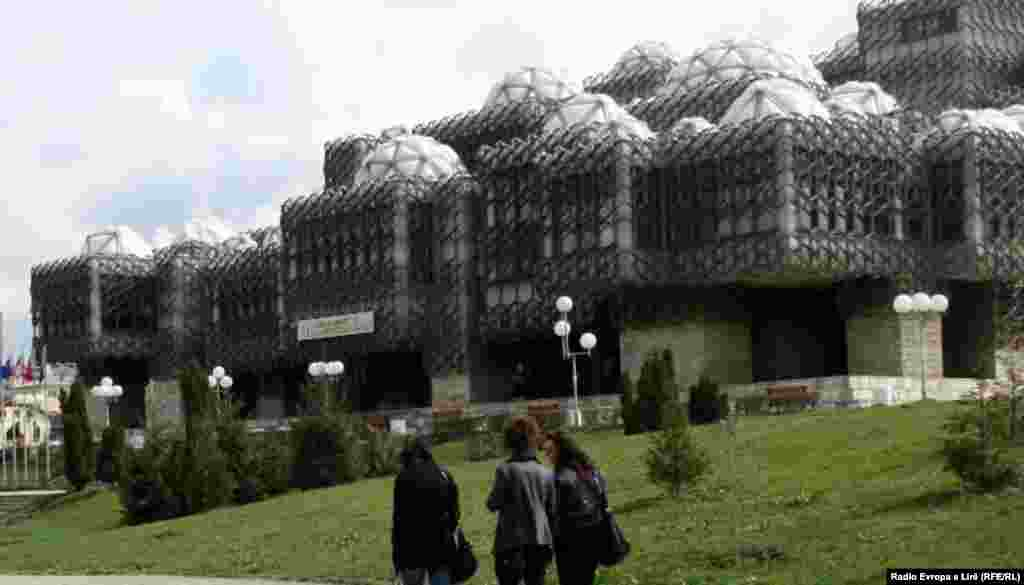 "The National University Library in Pristina, Kosovo, was designed by Andrija Mutnjakovic of Croatia and opened in 1982. It was also voted one of the world's ugliest buildings by ""The Daily Telegraph."" It features 73 small glass domes and is covered by a metal fishing net, of sorts. One travel guide describes it as ""simultaneously gorgeous and absurd."""