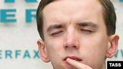 "Павел Обиух, активист НКО ""Перспектива"", на пресс-конференции в Москве, 2 марта 2009"