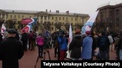 Митинг медработников в Петербурге 4 апреля 2015 г.