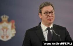 President Aleksandar Vucic spoke to the nation on March 17.