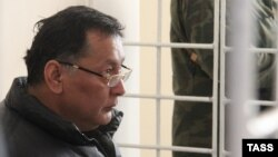 Akhmat Bakiev at a military court in Bishkek on January 12