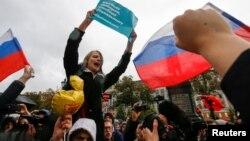 Pamje nga protesta e mbështetësve të Navalnyt në Moskë