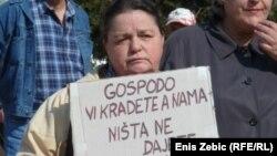 Sa prosvjeda umirovljenika, Hrvatska, 2011.