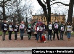 Акция поддержки Виктории Павленко в Санкт-Петербурге