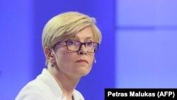 Ingrida Šimonytė közgazdász, korábbi pénzügyminiszter egy 2019-es televíziós vitán.
