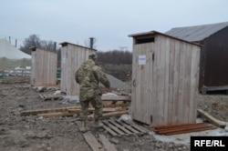 Туалеты на КПВВ «Майорск»