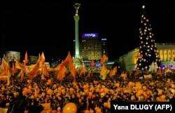 Помаранчева революція. Київ, майдан Незалежності, 28 грудня 2004 року