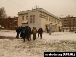 Зьбіраліся прыхільнікі славянскага адзінства каля гарадзкога цэнтру рытуальных паслугаў