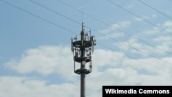 Вышка связи 5G в Карлсруэ, Германия