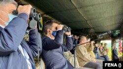 """БиХ - Демонстративна вежба на припадниците на вооружените сили на Босна и Херцеговина (АФ БиХ) и Армијата на Соединетите држави (САД) на полигонот Мањача во рамките на заедничката повеќедневна акција """"Брз одговор 21"""", 22.05.2021."""