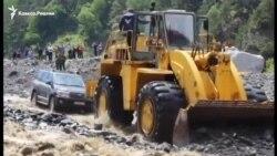 Селевой поток блокировал дорогу из Южной Осетии в Северную
