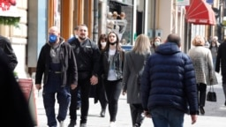 Bosnia and Herzegovina -- Authorities of Sarajevo Canton eased COVID measures, people enjoying drinking coffee in restaurant and cafes (coronavirus, COVID-19, pandemic), in Sarajevo, April 12, 2021.