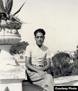 A young Ahmad Ali Kohzad in Rome when he was a secretary at the Afghanistan Embassy, a posting during which he met Mussolini several times.
