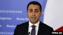 "Italian Foreign Minister Luigi Di Maio called it an ""extremely serious incident."" (file photo)"