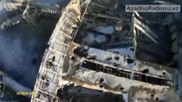 Donetsk aeroportunun quş uçuşu hündürlüyundən görüntüləri