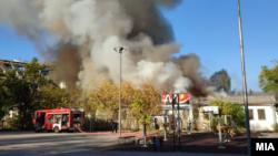 Пожарот кај бараките до градскиот парк