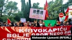 Podgorica: Protest zbog upisa Cetinjskog manastira na Mitropoliju SPC