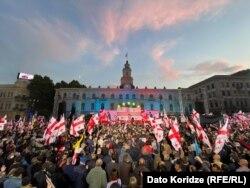 Georgia -- Rally to support Mikheil Saakashvili, Freemisha