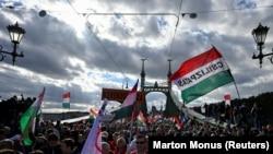 Манифестация в Будапеште, 23 октября 2021