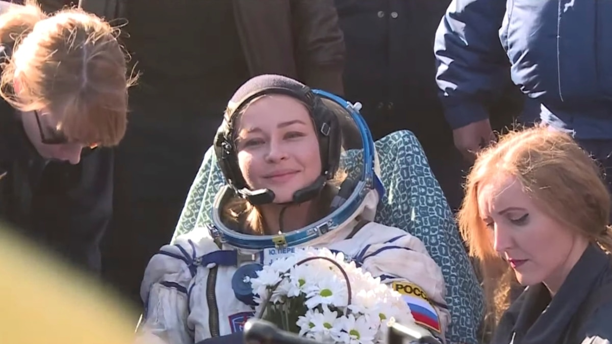 Russian Spacecraft Carrying Actress, Director Returns To Earth After Filming On ISS