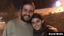 ارسلان یزدانی و همسرش، سمیرا ابراهیمی، پس از آزادی از زندان اوین