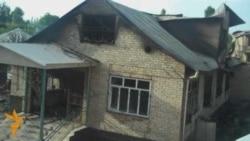Сожженный дом Бакиева в селе Тейит