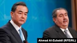 وزيرا الخارجية الصيني والعراقي وانغ يي وهوشيار زيباري - بغداد 23 شباط 2014