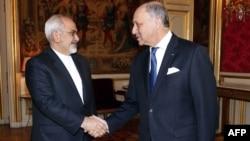 دیدار محمدجواد ظریف و لوران فابیوس، وزرای خارجه ایران و فرانسه در پاریس