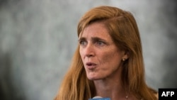 U.S. Ambassador to the United Nations Samantha Power accuses Russia of blocking all action against Syria at the Security Council.