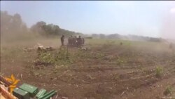 Ukrainian Military Video Shows Shelling Near Slovyansk