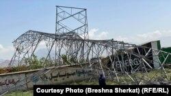 تخریب پایه برق در ولسوالی میربچه کوت ولایت کابل. 27 April 2020