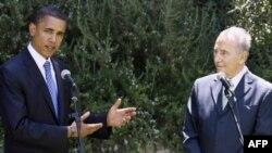 Барак Обама И Шимон Перес во 2008 година во Ерусалим