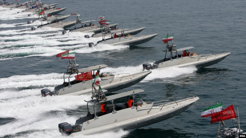 Iran's Revolutionary Guard speed boats. File photo