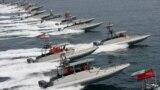 قایقهای تندروی سپاه پاسداران در خلیج فارس